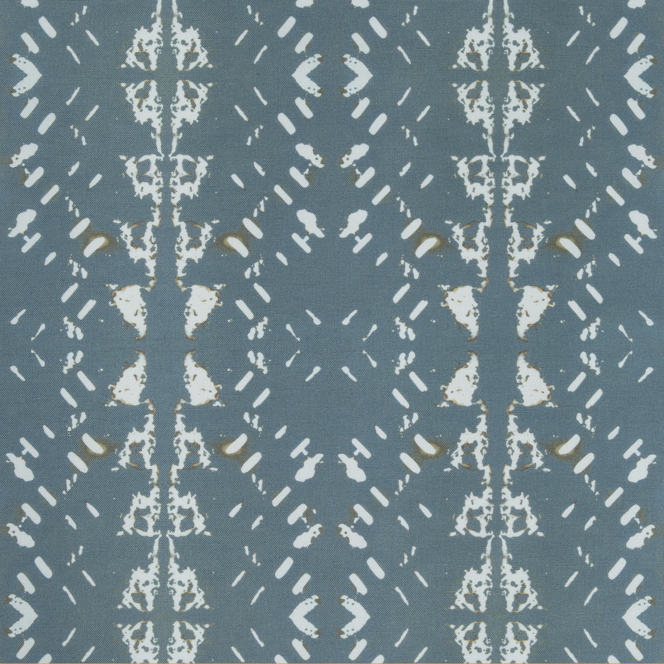 Native Embers Petrol Fabric Repeat
