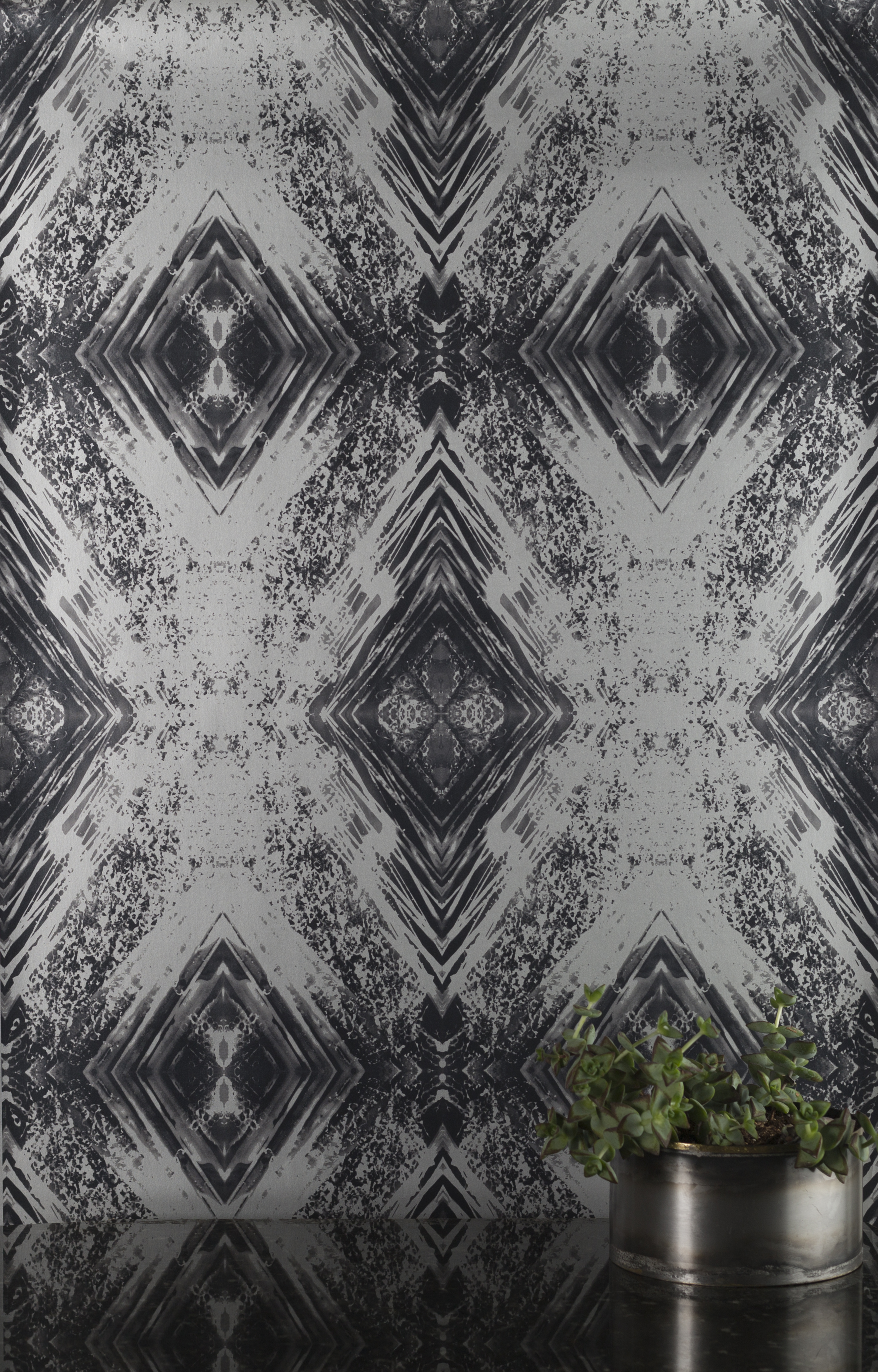 Aurora Silver Wallpaper