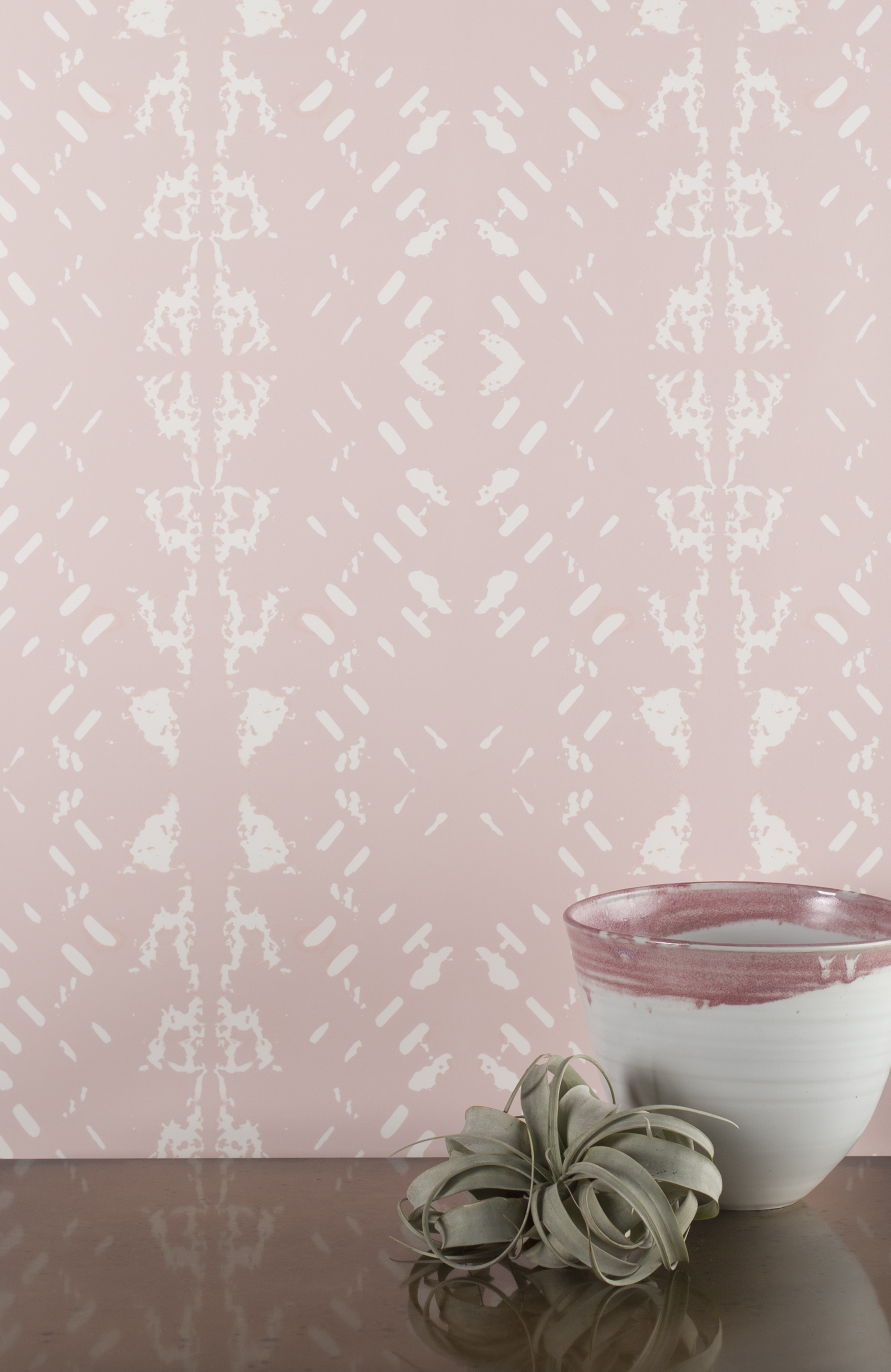 Native Embers Bleached Rose Wallpaper