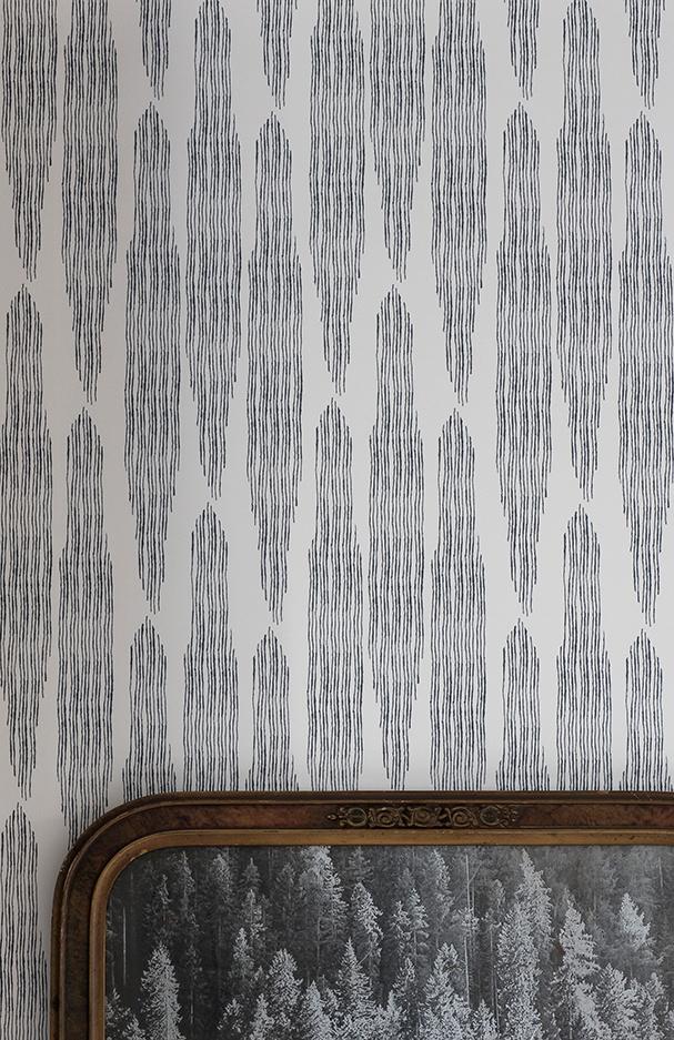 Pines Oyster Linen Wallpaper