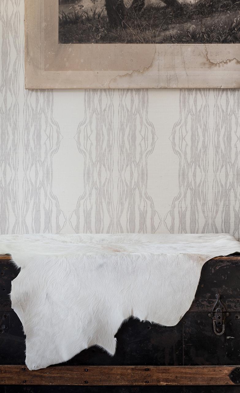 Flow Grasscloth Wallpaper