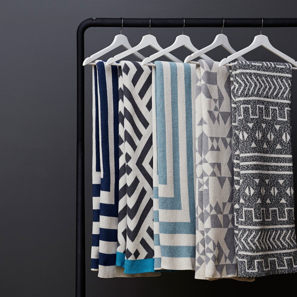 Savannah Hayes Cotton Throw Blankets