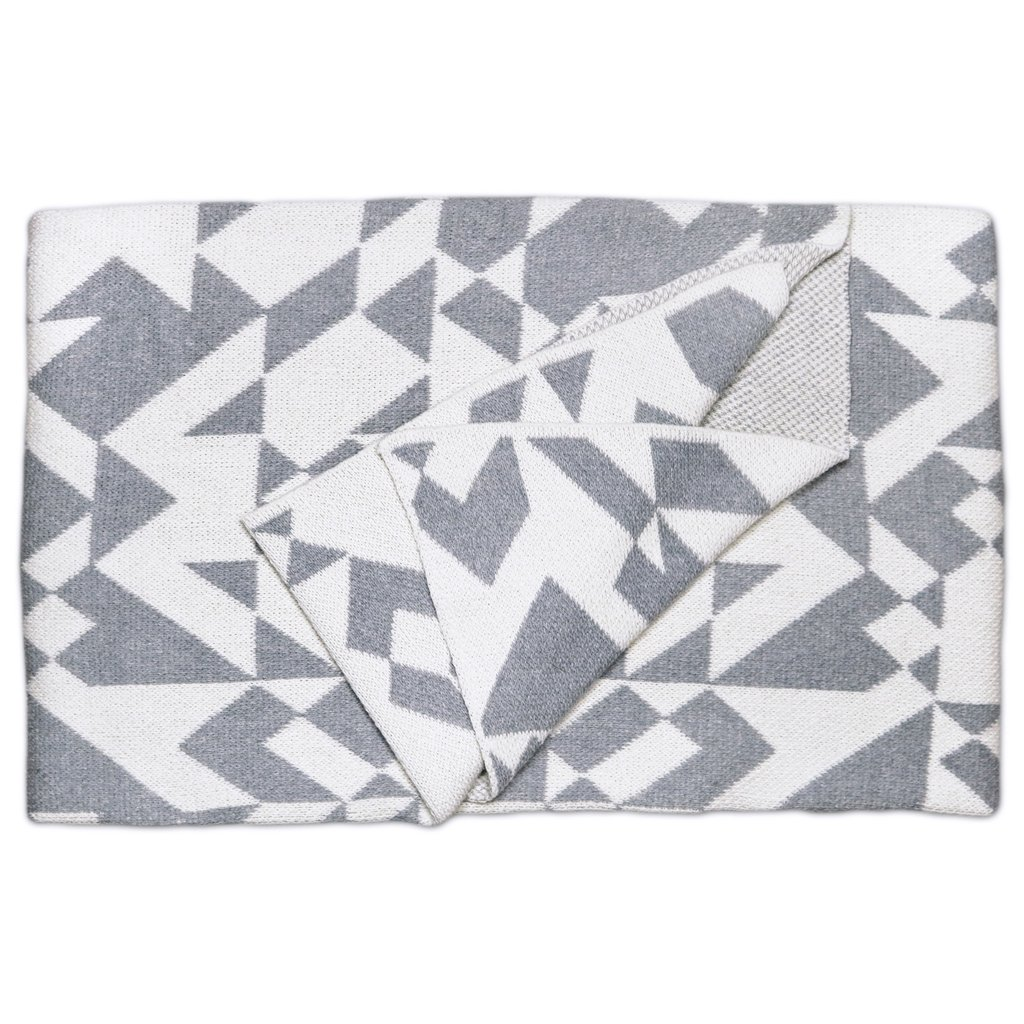 Madrid Smoke Cotton Throw Blanket