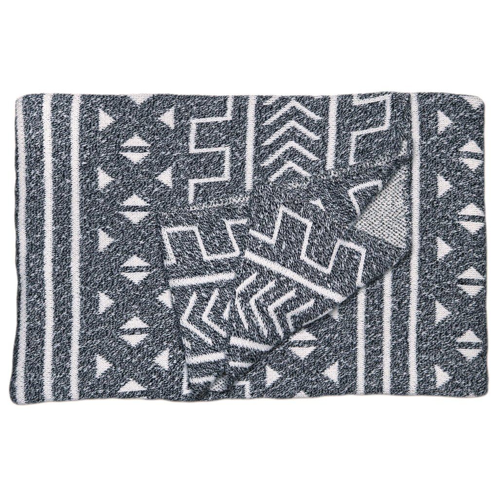Mali Onyx Cotton Throw Blanket