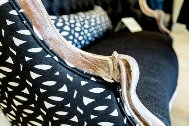 Loop Black Upholstered Chair