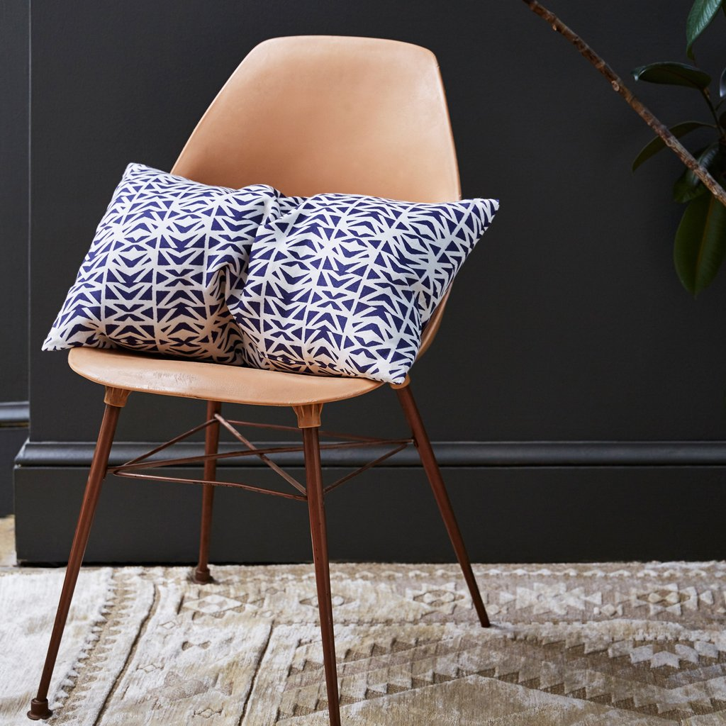 Lisbon Indigo Cushion