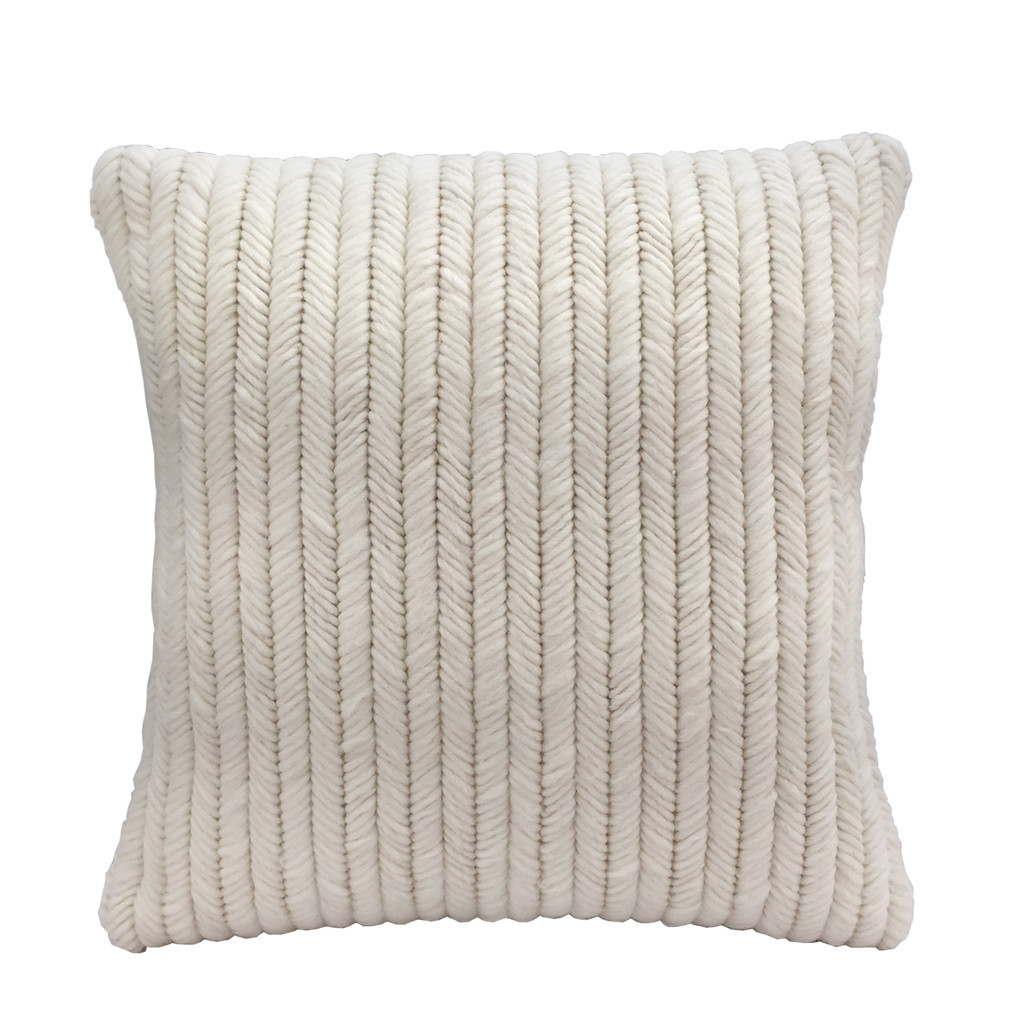 Textured Pillow Cream Herringbone