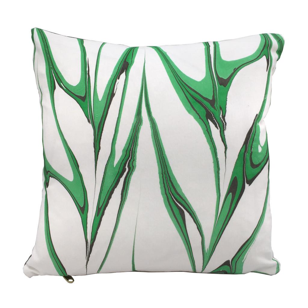 Marbled Pillow Malachite 50x50