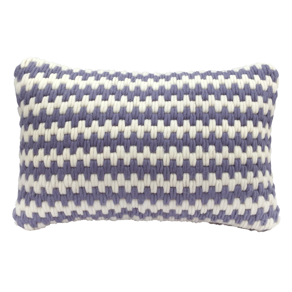 Textured Pillow Lavender Stripe