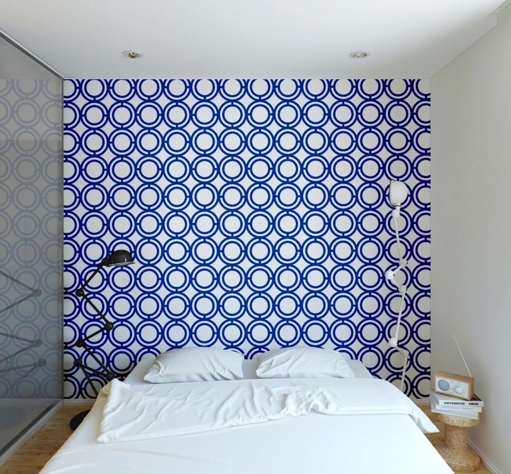 Palladian Loop - Navy Blue wall