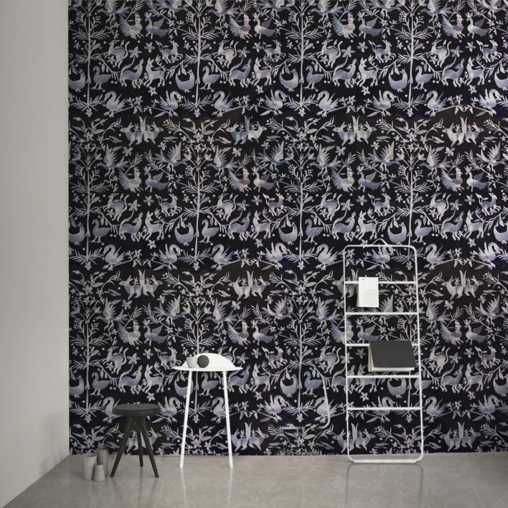 Aves - Off Black feature wall