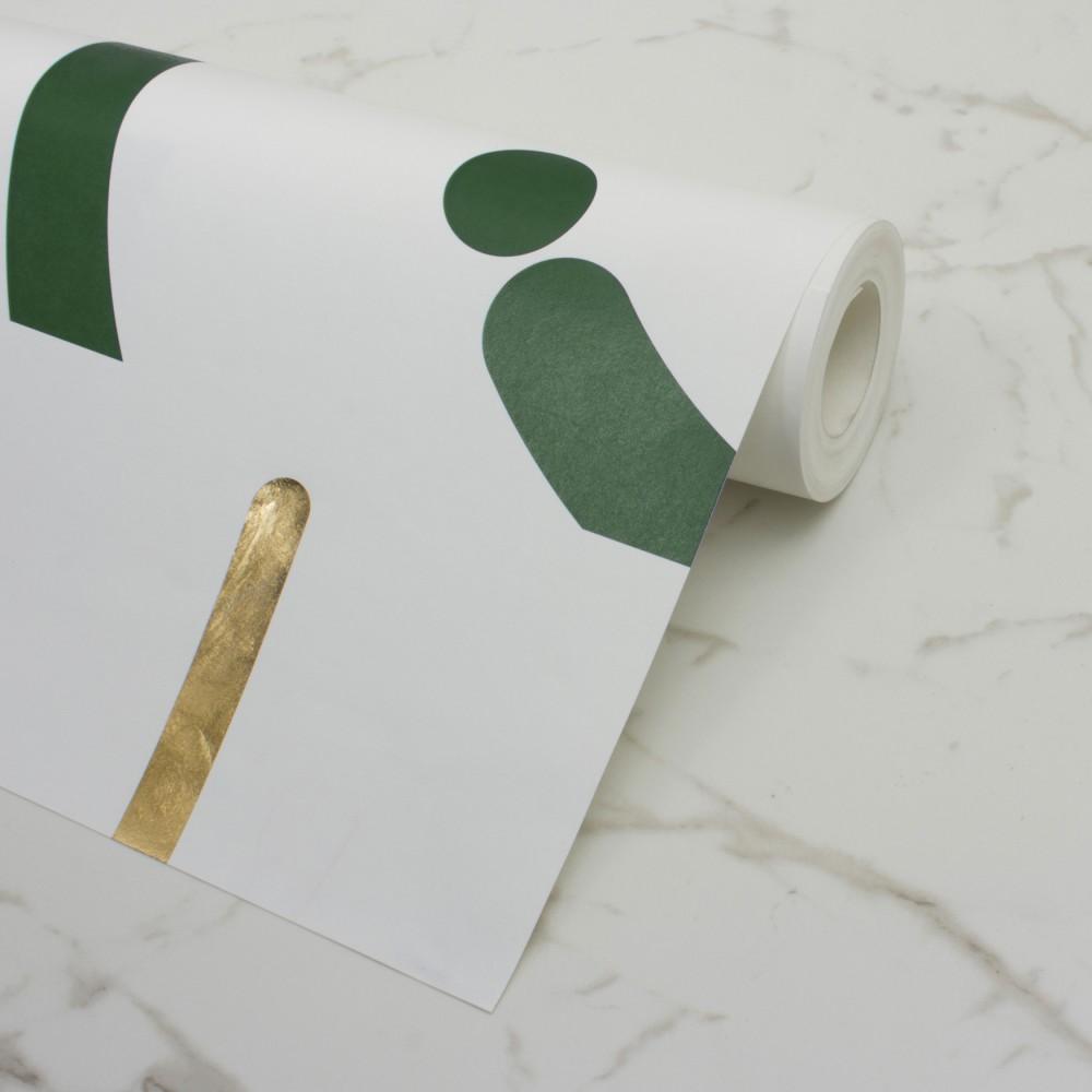 Offset - Fir Green+Gold