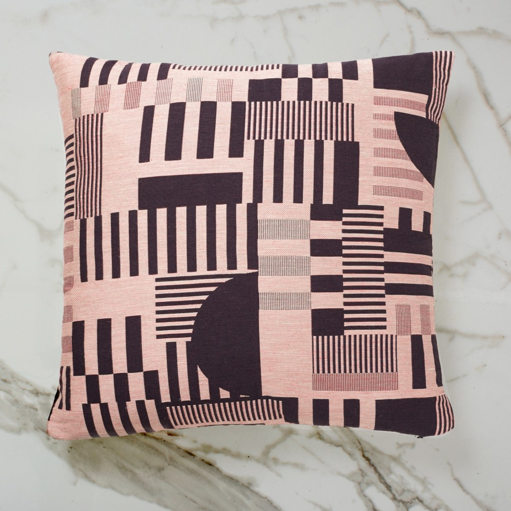 Hayward Woven Day Cushion - Aubergine