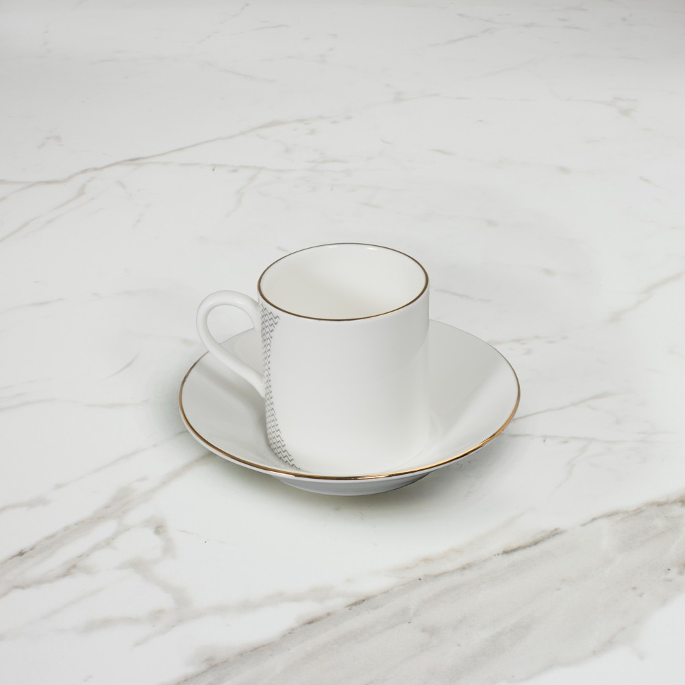 Curve Espresso Cup+Saucer No.1