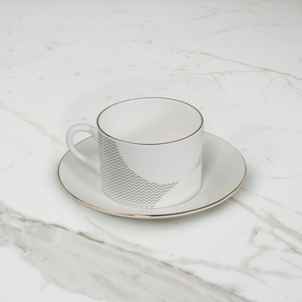 Curve Cup+Saucer No.2