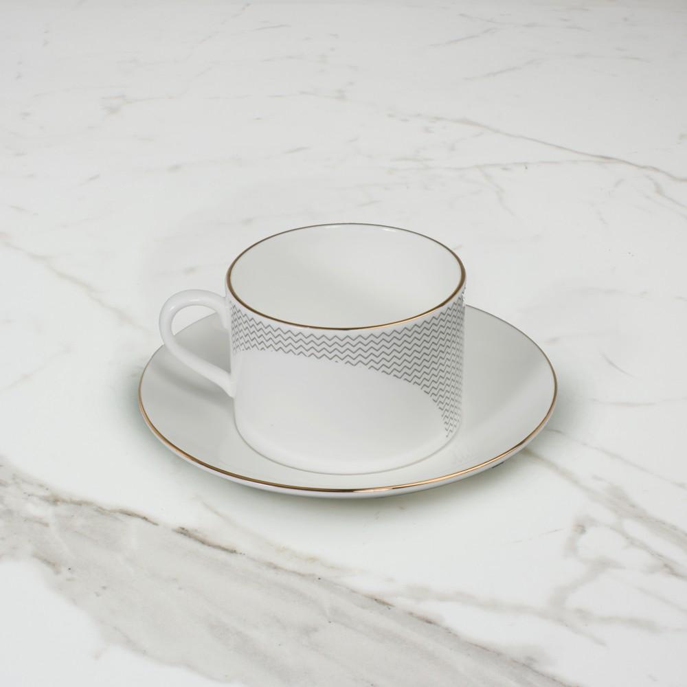 Curve Cup+Saucer No.4