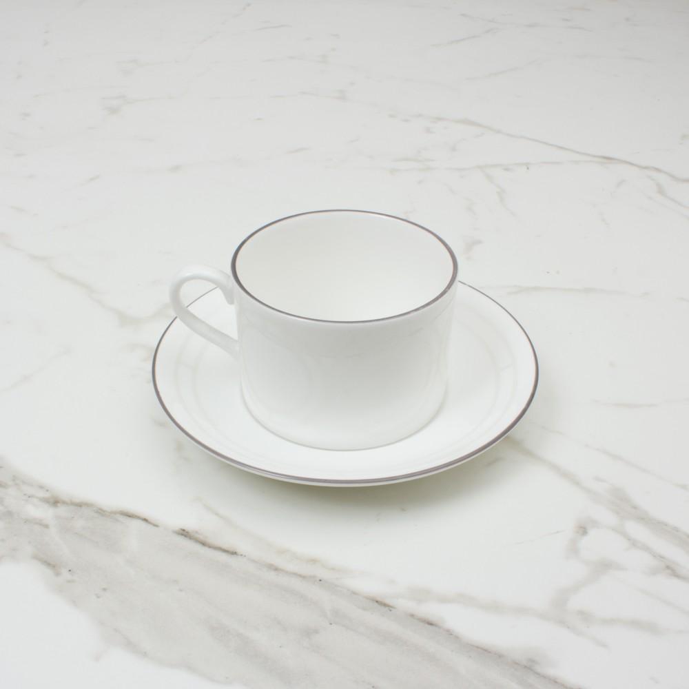 Palladian Tea Cup+Saucer No.1 Brooklyn White