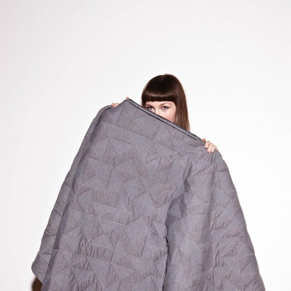 Goldsmiths Quilt - Grey with Grey Stitching