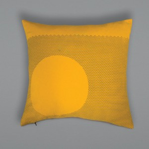 Curve Cushion - Mustard Outside