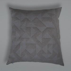 Goldsmiths Floor Cushion - Grey with Grey Stitching