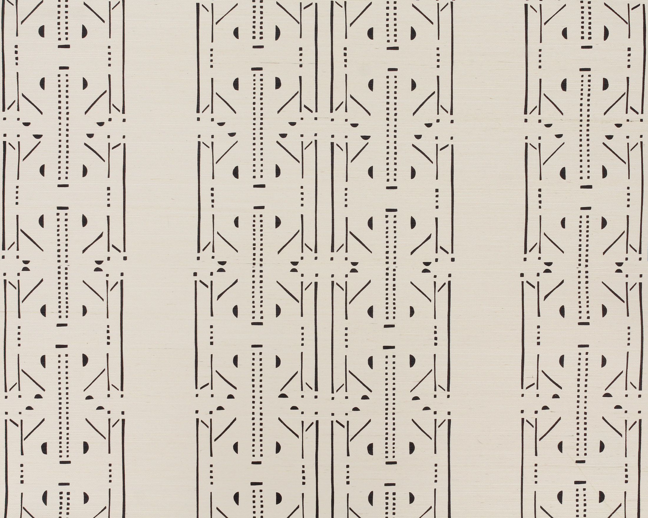 Akan Onyx Grasscloth Wallpaper
