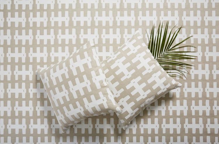 Bridge White Natural Repeat and Cushions