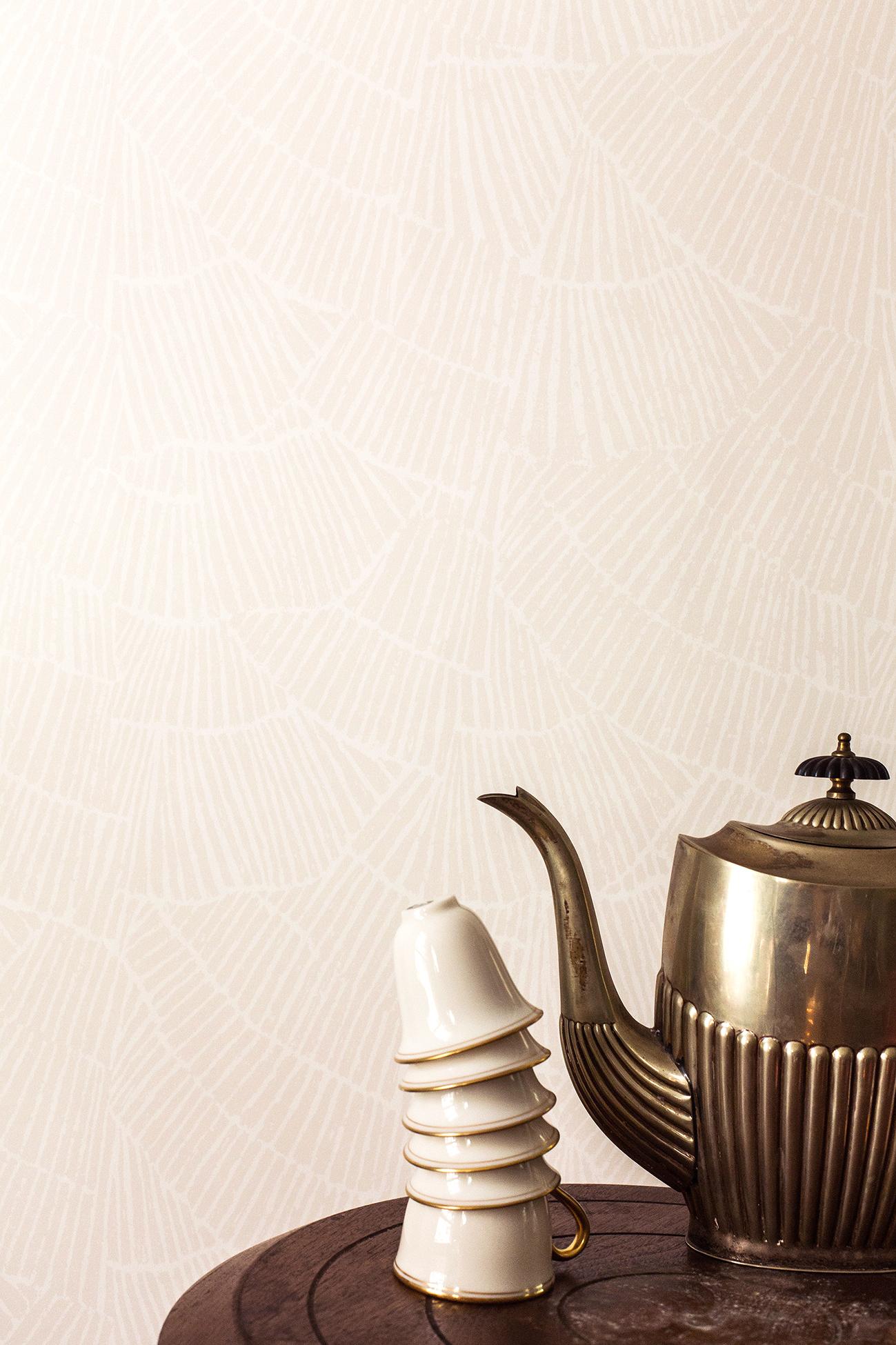 Pleat Cream Wallpaper