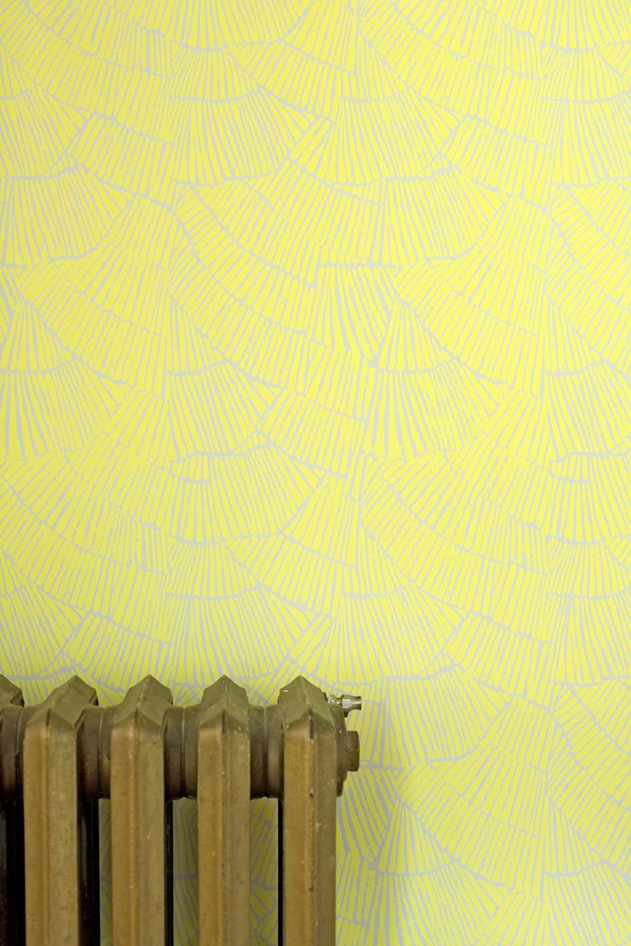 Pleat Lemon Wallpaper
