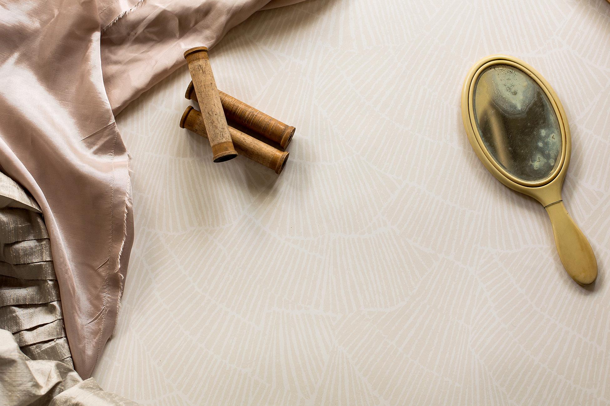 Pleat Cream Wallpaper Styled