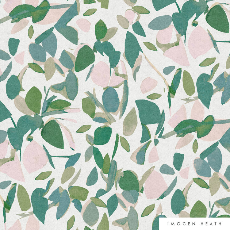 Evergreen - Green and Pink