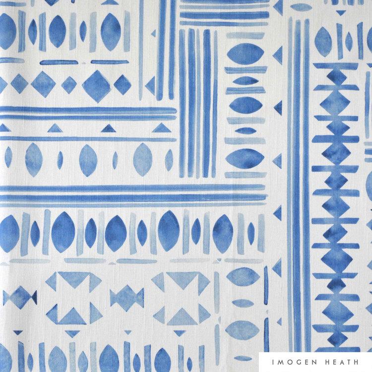 Oriel - Watercolour Blue