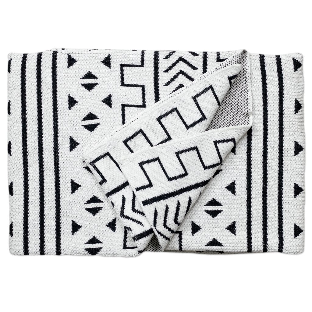 Mali Blanc Cotton Throw Blanket