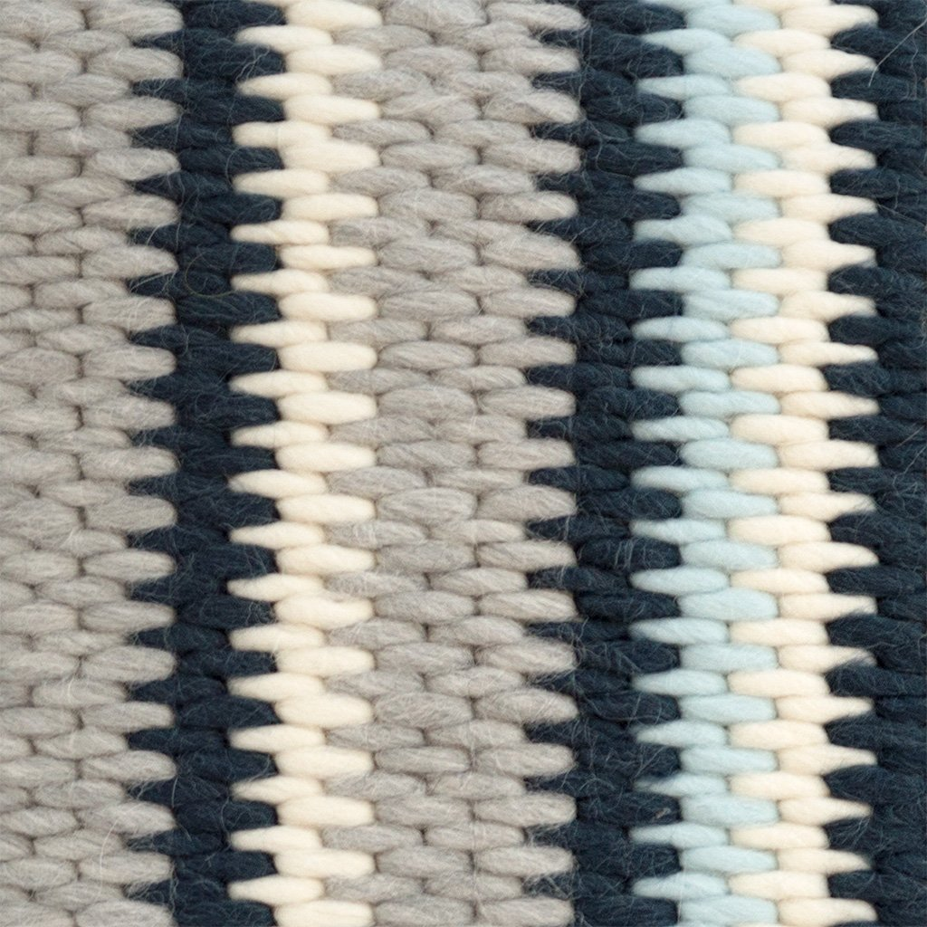 Textured Pillow Navy Blue Stripe detail