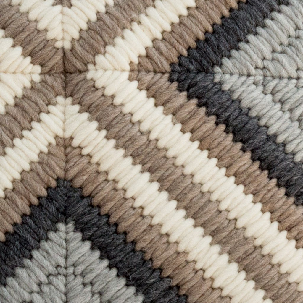 Textured Pillow Gray Cross detail