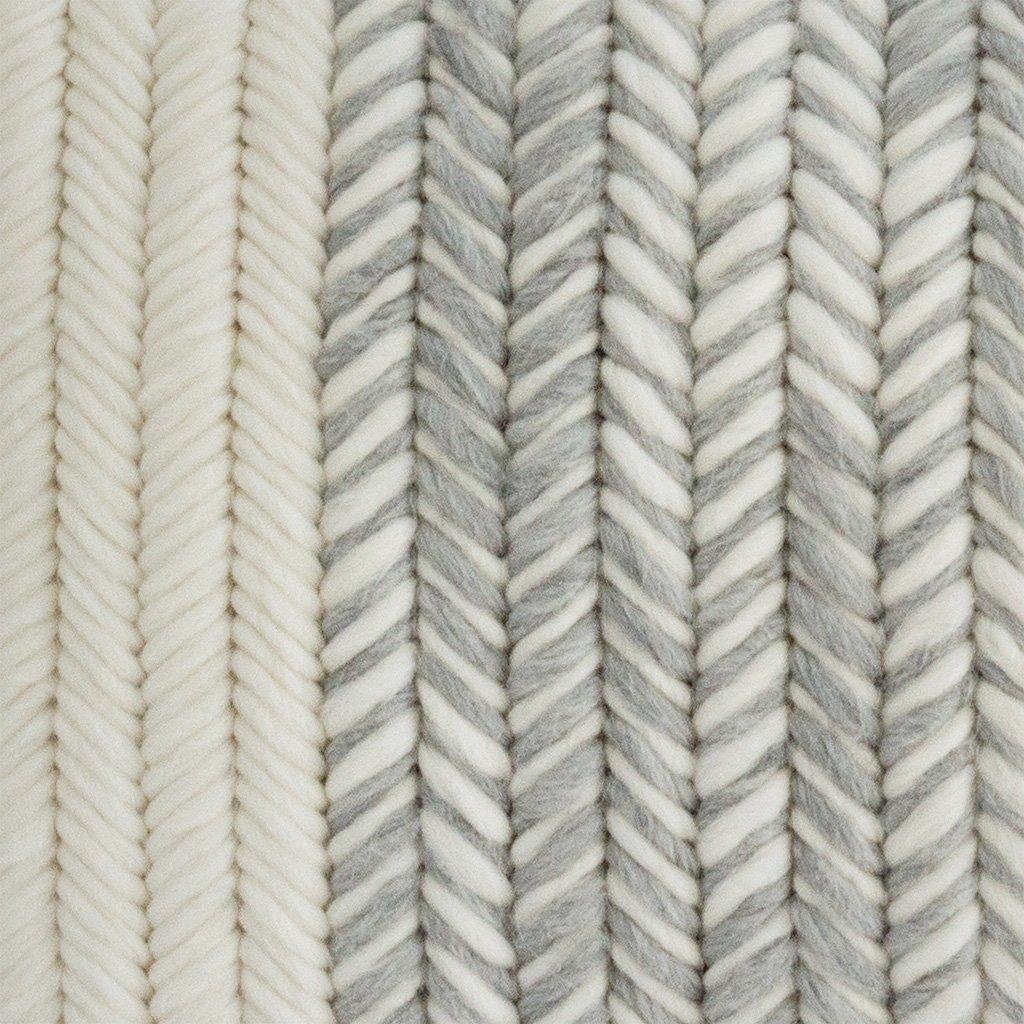 Textured Pillow Heathered Gray Herringbone detail