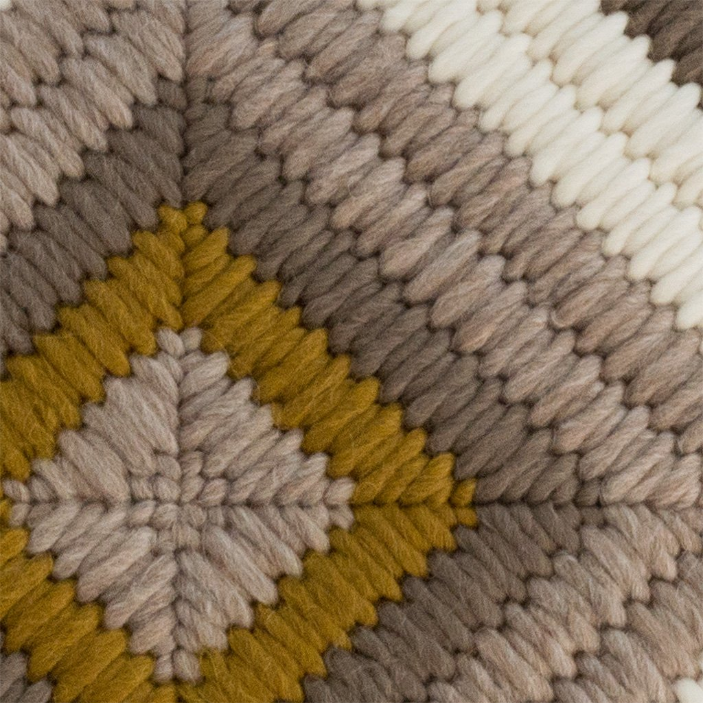 Textured Pillow Ochre Diamond detail