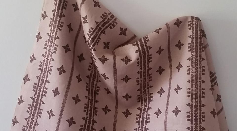 Moroccan Stripe in Terracotta Pink