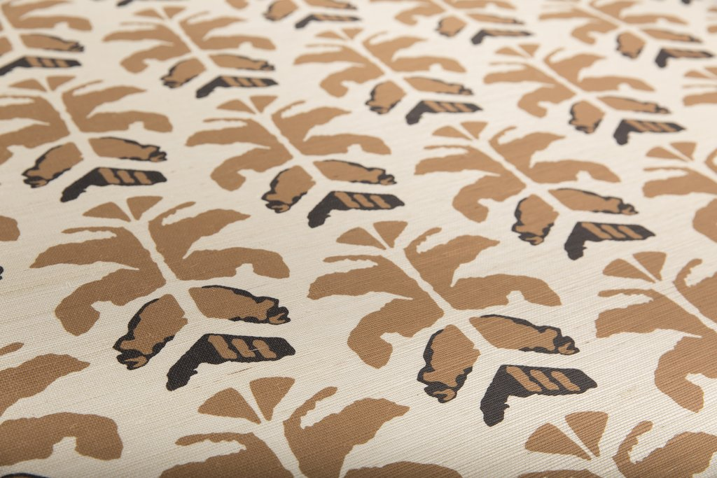 Wild Palms Grasscloth Sahara Close up