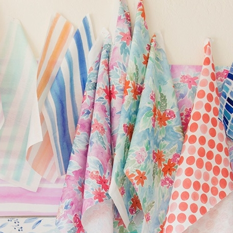 Renee, Juliet and Spots fabrics