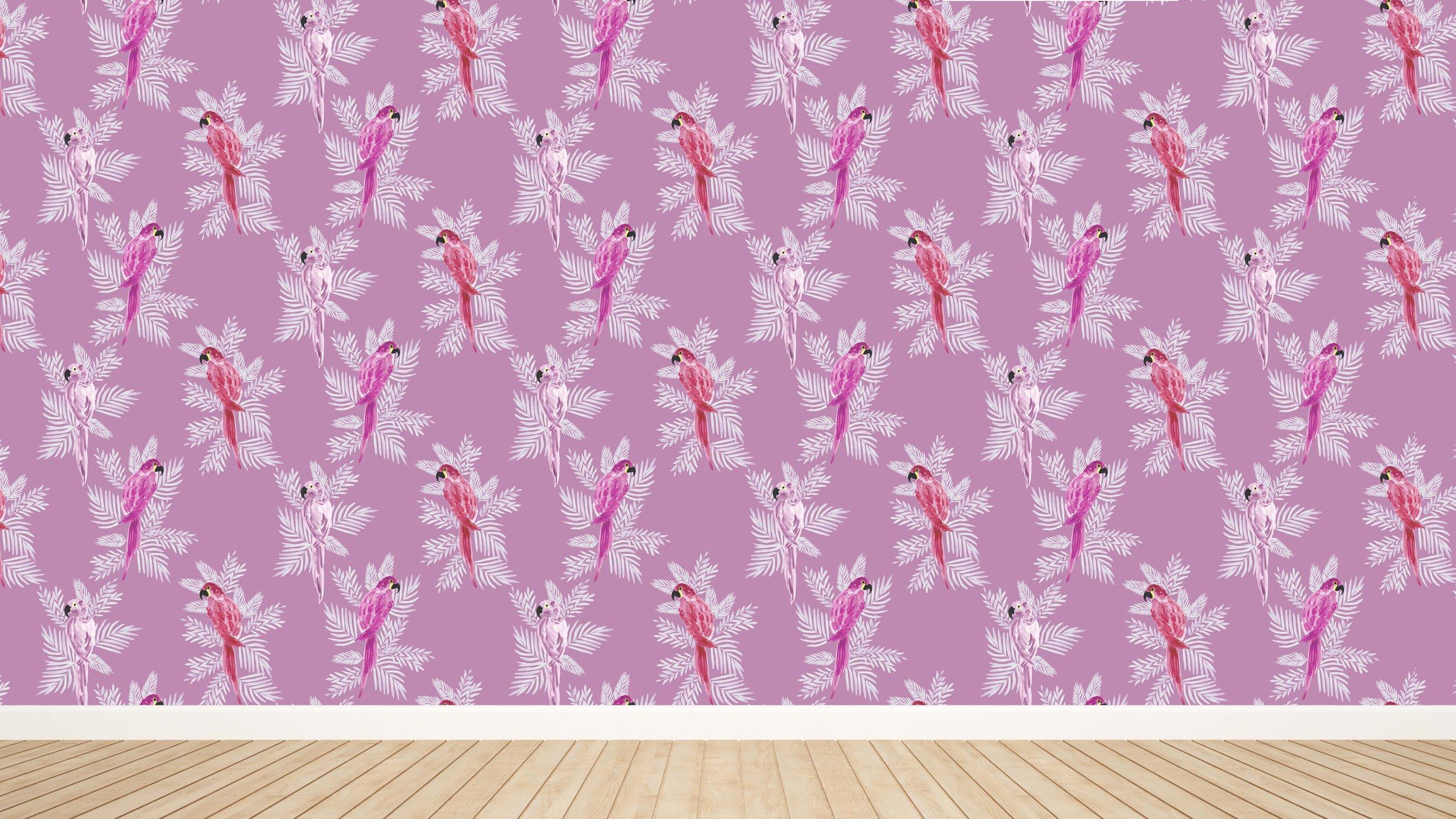 Polly in Magenta Wallpaper