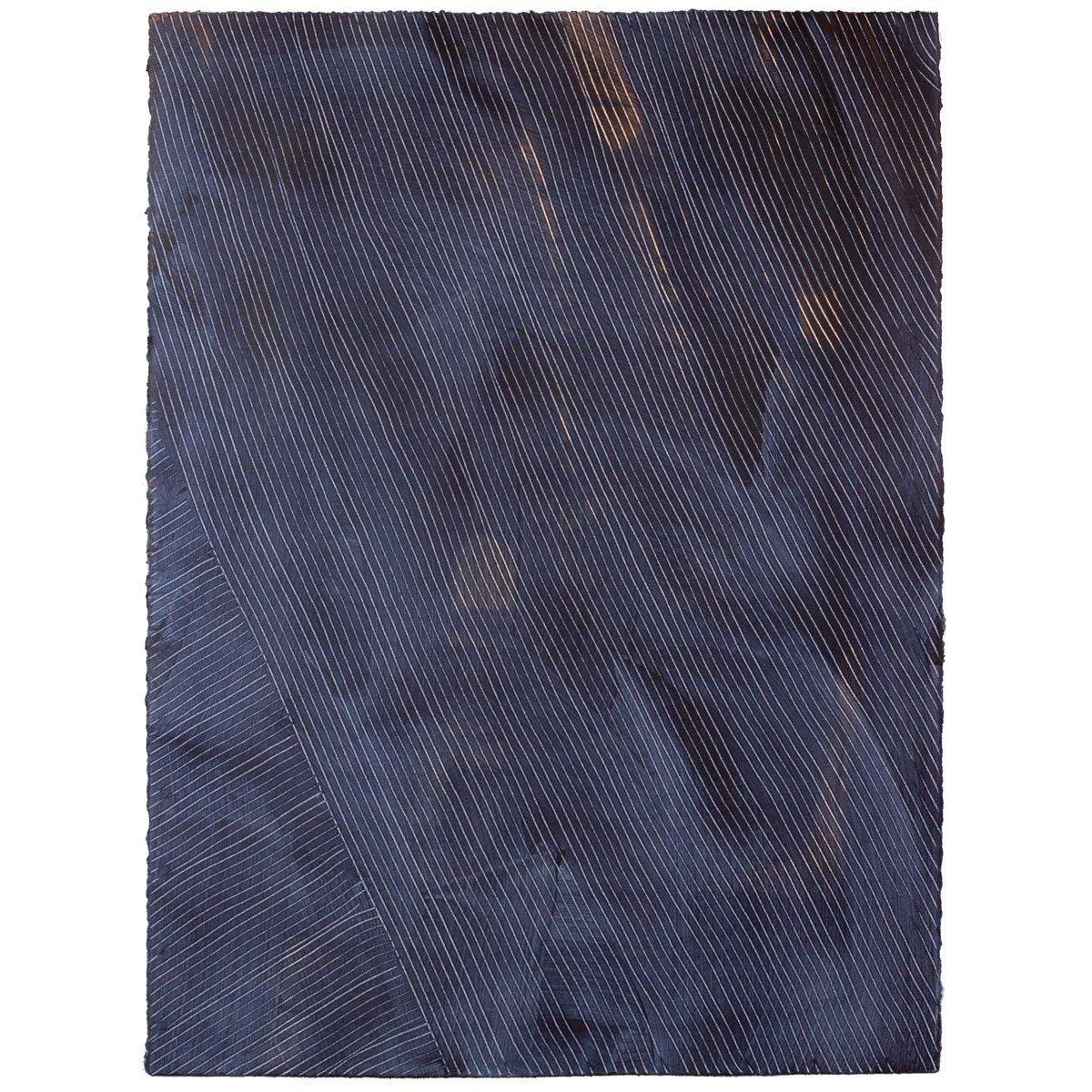 Lanai - Indigo - Hand-Painted Sheet Wallpaper