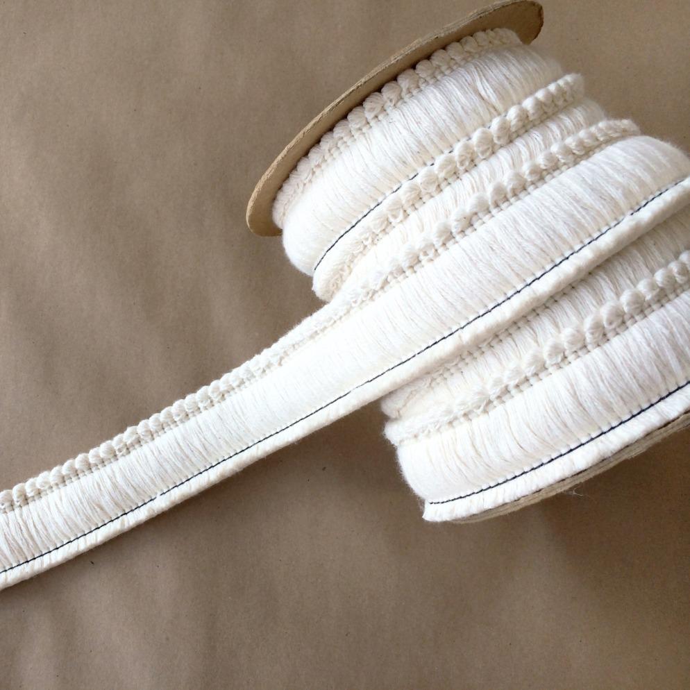 "1.5"" Brush Cut Fringe Natural Cotton"