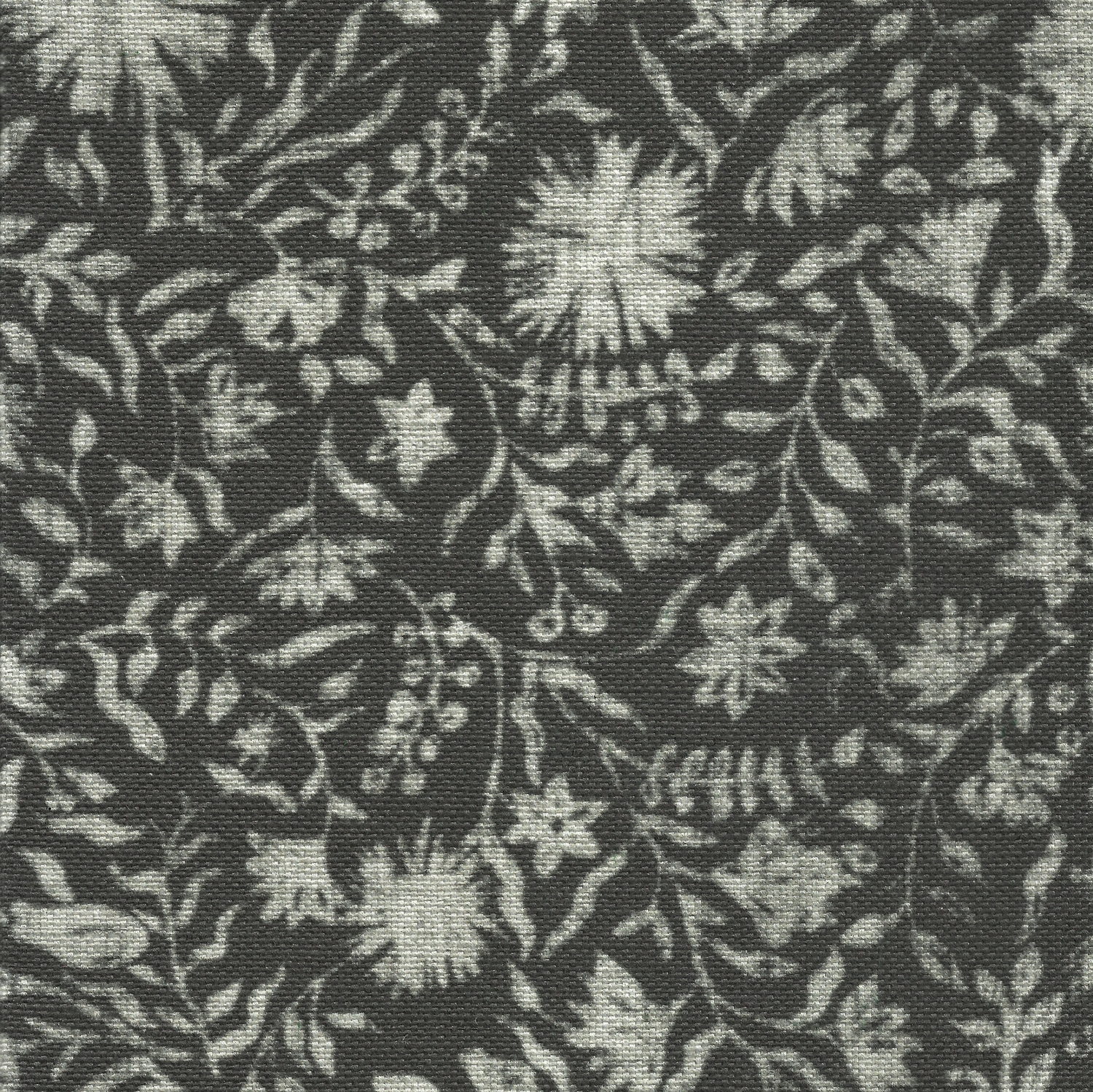 Madras Floral in Charcoal
