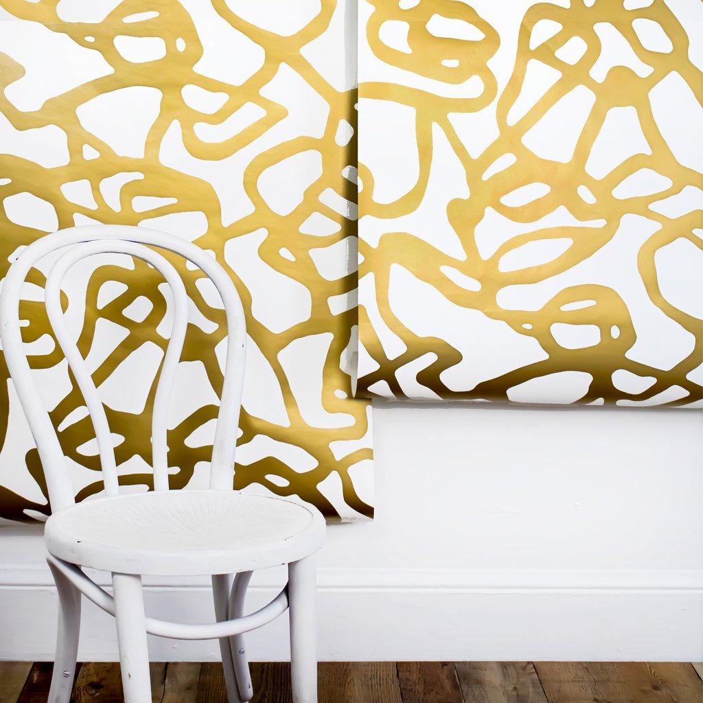 Pompeii wallpaper in Gold