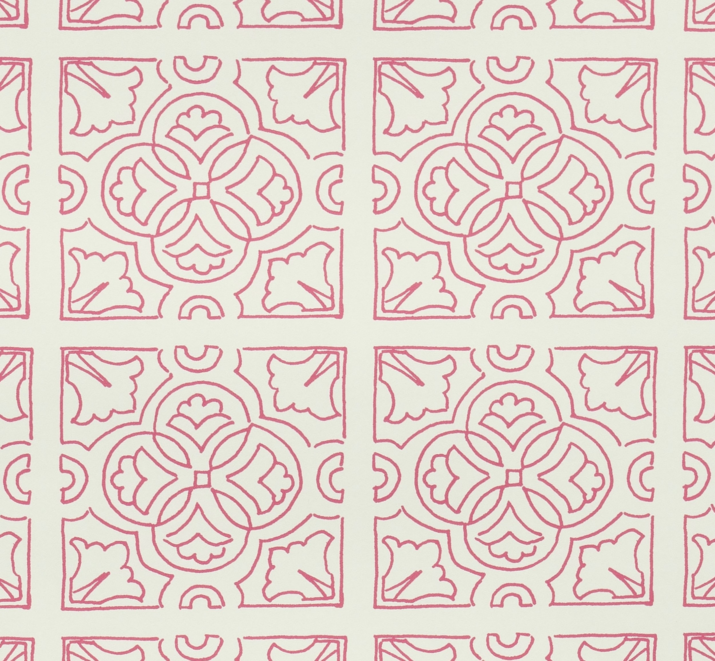 Irish Tile Wallpaper detail - Fuchsia