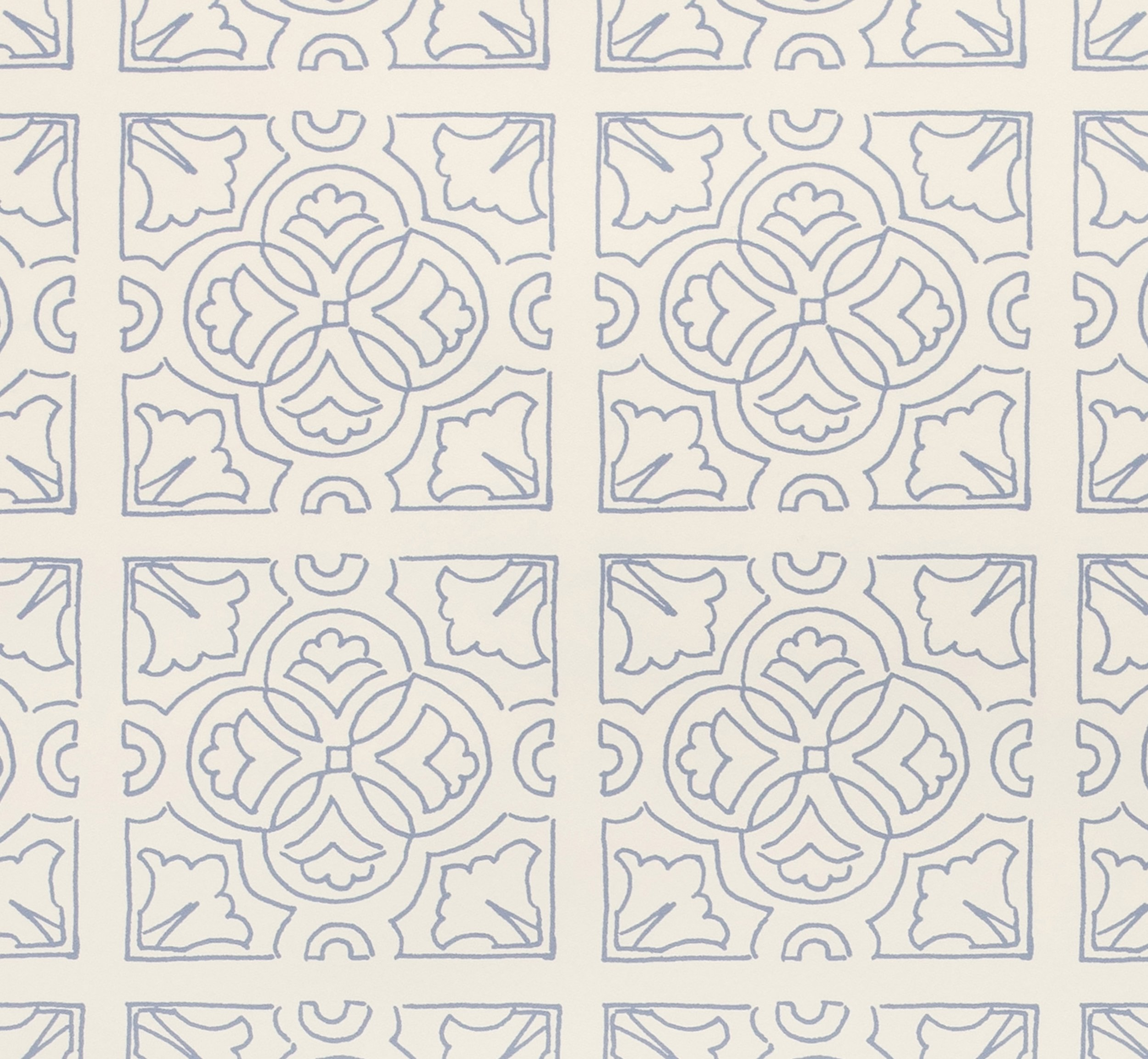 Irish Tile Wallpaper detail - Wedgewood Blue