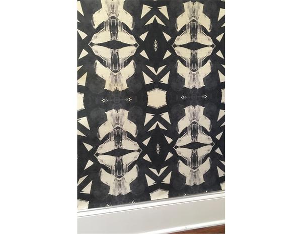 42614-1M Black Grasscloth install