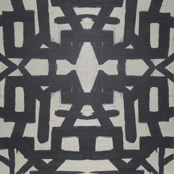 82113 Black White Grasscloth