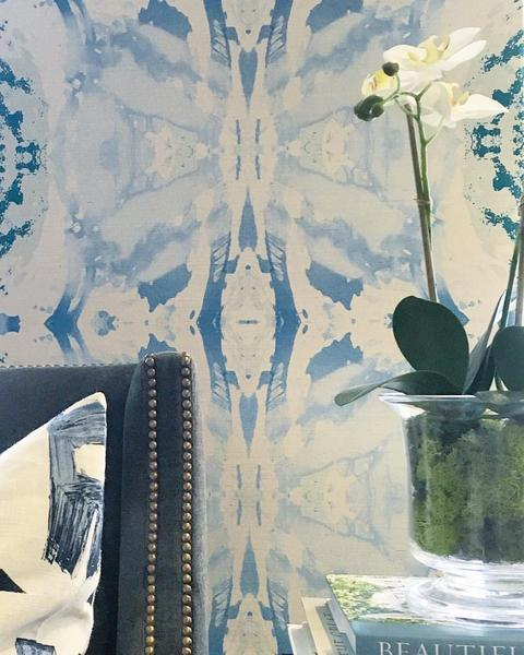 125-5 Teal Blue A Grasscloth