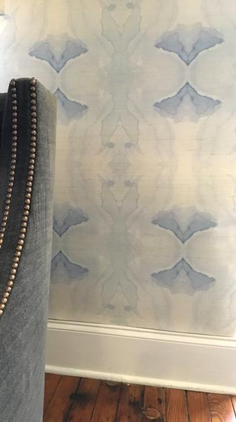 4116 Illusion Blue Grasscloth
